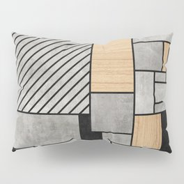Random Pattern - Concrete and Wood Pillow Sham