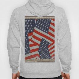 Patriotic Americana Flag Pattern Art #2 Hoody