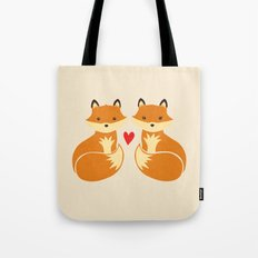 Love foxes Tote Bag