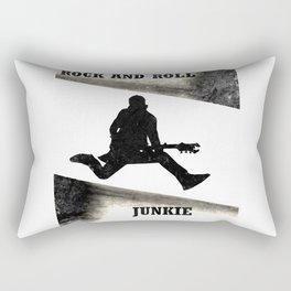Rock and Roll Junkie Rectangular Pillow