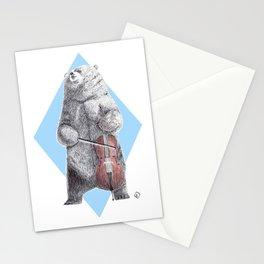 Cellist bear Stationery Cards