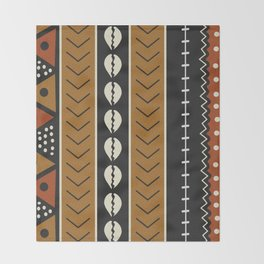 Let's play mudcloth Throw Blanket