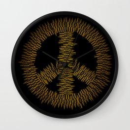 Bullet Peace Wall Clock
