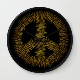 Bullet Peace Wall Clock