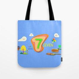 Number seven - Kids Art Tote Bag