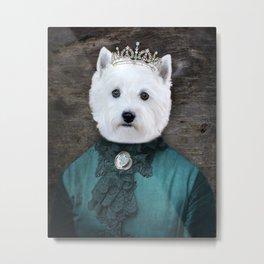 Lady Oakley - Westie Portrait Metal Print