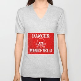 Danger Minefield Unisex V-Neck