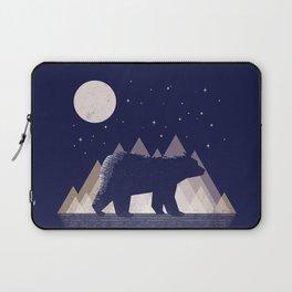 Moon Bear - Geometric, bear shirt, stars, mountains, animal t shirt, animal print t shirt, wildlife Laptop Sleeve