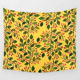 Vintage Yellow  Wall Tapestry