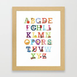A to Z for Baby Framed Art Print