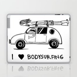 I HEART BODYSURFING Laptop & iPad Skin