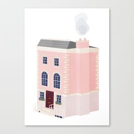 The Pink House Canvas Print