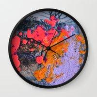 new jersey Wall Clocks featuring New Jersey by Aniko Gajdocsi