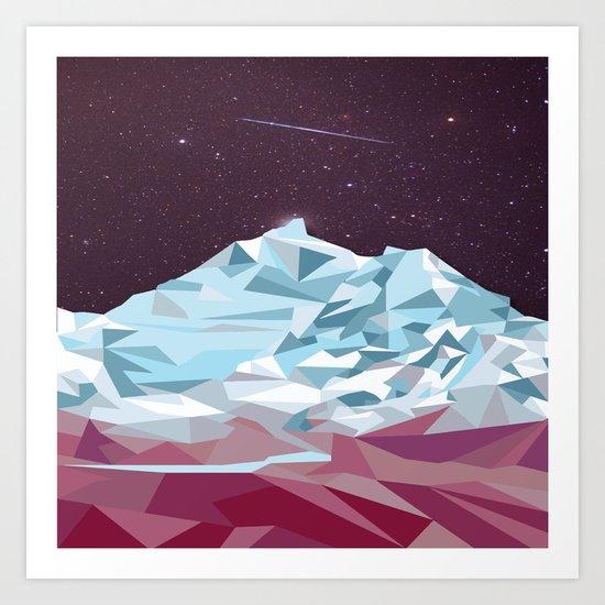 Night Mountains No. 25 Art Print