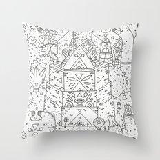 garden of koznoz Throw Pillow