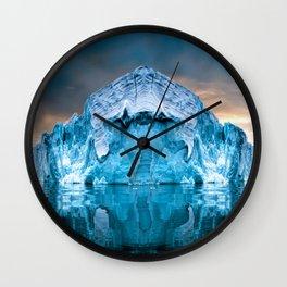 Alaska Glacier Wall Clock