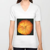 pumpkin V-neck T-shirts featuring Pumpkin ^_^ by Julia Kovtunyak