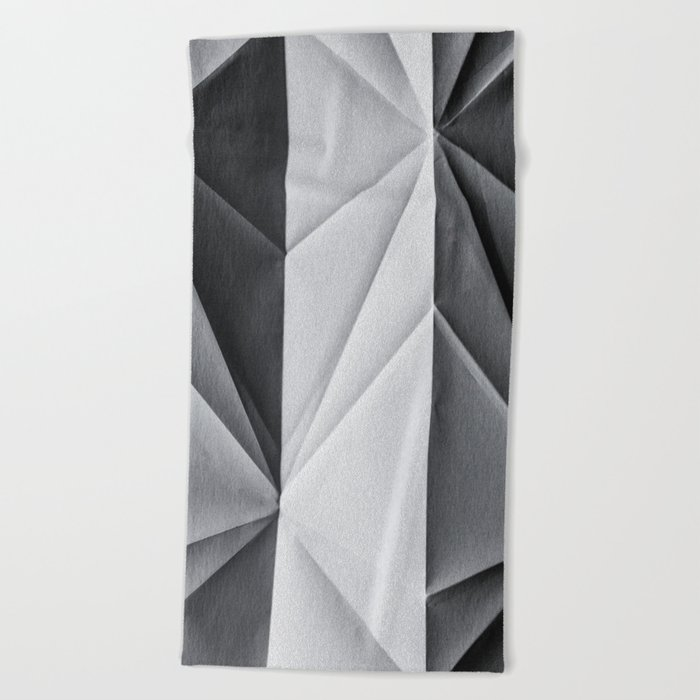 Folded Paper 1 Beach Towel