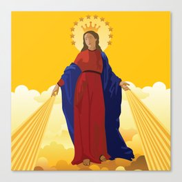 Mary Queen of Heaven Canvas Print