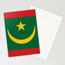 Mauritania National Flag Stationery Cards