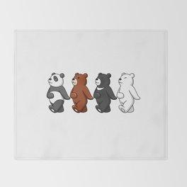 Dancing Bears Throw Blanket