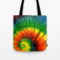 hippie Tote Bags featuring HIPPIE by Maioriz Home