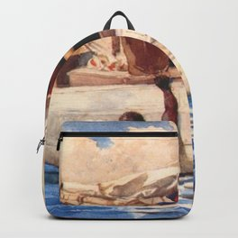 Winslow Homer's African American Masterpiece, The Coral Diver, Gulf of Mexico landscape nautical painting Backpack
