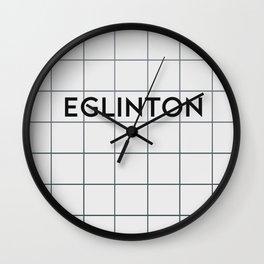 EGLINTON   Subway Station Wall Clock