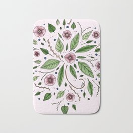 Hanging Among the Flowers & Leaves (PINK) Bath Mat