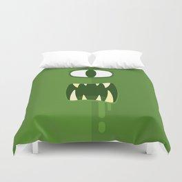 Green Eyed Monster Duvet Cover