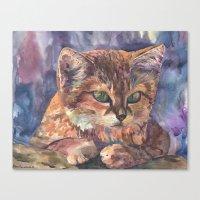 meow Canvas Prints featuring Meow by Emma Reznikova