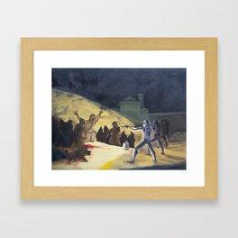 Goya's Troopers Framed Art Print