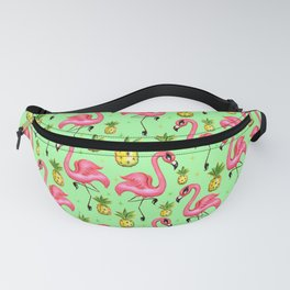 Flamingos with Pineapples Fanny Pack