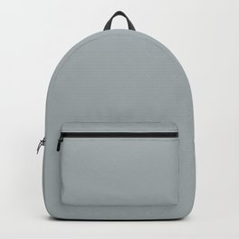 Middle of the Road Gray Solid Color Pairs To Sherwin Williams Uncertain Gray SW 6234 Backpack