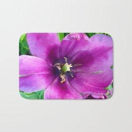 467 - Open Purple Tulip Bath Mat