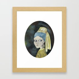 Girl with the Pearl Earring Framed Art Print