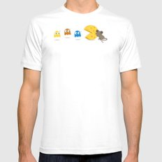 Scared the cheese out of me! Mens Fitted Tee MEDIUM White