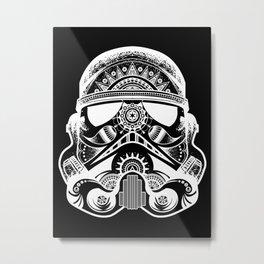Mandala Stormtrooper - White. A loyal solider.  Metal Print