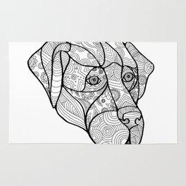 Labrador Retriever Mandala Rug