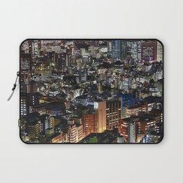 Tokyo Buildings at Night Laptop Sleeve