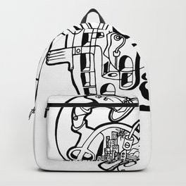 Halo Ink on Paper Drawing by Jordan Eismont Brooklyn, NYC Backpack