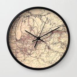 New York Central & Hudson River Railroad Map (1900) Wall Clock