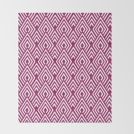 Marsala Diamond Pattern Throw Blanket