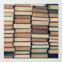 bookworm Canvas Prints featuring Bookworm by Laura Ruth