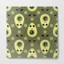 Cute Avocado Metal Print