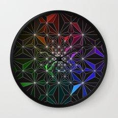 Spotty Variation 2 Geometric Art Print. Wall Clock