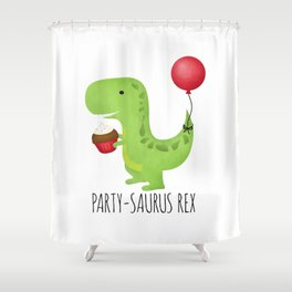 Party-Saurus Rex Shower Curtain