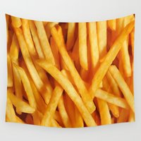 fries Wall Tapestries featuring Fries by Maioriz Home