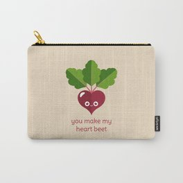 You Make My Heart Beet Carry-All Pouch