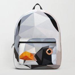 Bearded reedling Geometric bird art Backpack